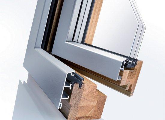 Dřevo-hliníková okna iv78